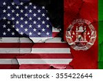 flags of usa and afghanistan... | Shutterstock . vector #355422644