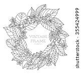 forest flowers wreath  wild... | Shutterstock .eps vector #355424999
