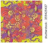 vector floral pattern .hand...   Shutterstock .eps vector #355425437