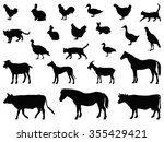 farm animals set | Shutterstock .eps vector #355429421