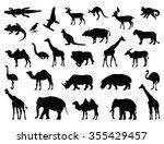 wild animals set | Shutterstock .eps vector #355429457