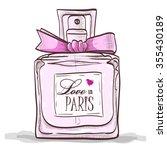 parfume love in paris. paris ...   Shutterstock .eps vector #355430189