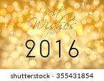 """""""best wishes for 2016"""" text... 