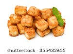 Fried Tofu With Parsley On...
