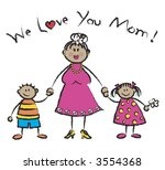 we love you mom tan skin tone... | Shutterstock . vector #3554368