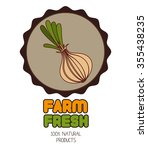 farms fresh vegetable graphic... | Shutterstock .eps vector #355438235