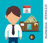 business entrepreneur and start ... | Shutterstock .eps vector #355441115