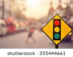 traffic light sign on blur... | Shutterstock . vector #355444661