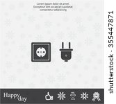 plug socket icon | Shutterstock .eps vector #355447871