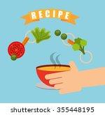 cooking recipe design  vector... | Shutterstock .eps vector #355448195