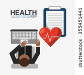 health care design  vector...   Shutterstock .eps vector #355451441