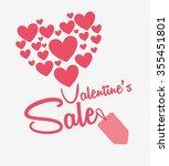 valentines sale design  vector... | Shutterstock .eps vector #355451801