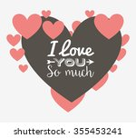 love card design  vector... | Shutterstock .eps vector #355453241