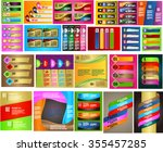 colorful modern text box... | Shutterstock .eps vector #355457285