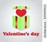 illustration valentines day.... | Shutterstock .eps vector #355459421