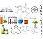 science and chemistry icons | Shutterstock .eps vector #35545966