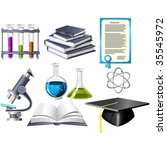 science and education icons | Shutterstock .eps vector #35545972