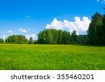 summer landscape | Shutterstock . vector #355460201