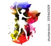 watercolor ballerina   Shutterstock .eps vector #355463309