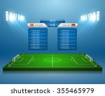 soccer field with scoreboard... | Shutterstock .eps vector #355465979