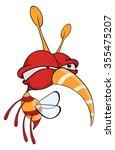 cartoon illustration of a red... | Shutterstock . vector #355475207