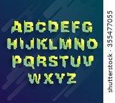 stylized fancy font. set of... | Shutterstock .eps vector #355477055