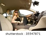 sexy woman in the car | Shutterstock . vector #35547871
