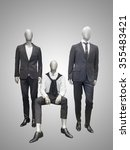 three male mannequins dressed... | Shutterstock . vector #355483421
