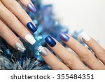 Christmas Blue And Silver With...