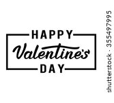 happy valentines day. lettering | Shutterstock .eps vector #355497995