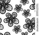 vector seamless hand drawn... | Shutterstock .eps vector #355512551