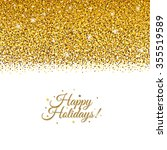 holiday postcard with gradient... | Shutterstock .eps vector #355519589