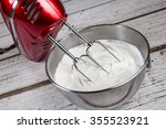 electric hand mixer with... | Shutterstock . vector #355523921