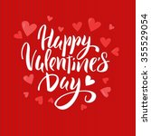 happy valentine's day lettering ... | Shutterstock .eps vector #355529054