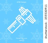 web line icon. caliper   Shutterstock .eps vector #355530911