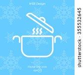 web line icon. pan  saucepan | Shutterstock .eps vector #355532645