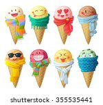 set of cartoon vector icons.... | Shutterstock .eps vector #355535441