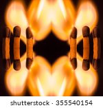 Kaleidoscopic View Of Ignited...