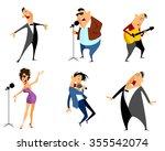 vector illustration of a six... | Shutterstock .eps vector #355542074