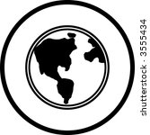 earth symbol | Shutterstock .eps vector #3555434