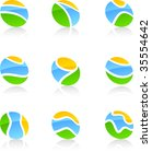 set of nature vector icons such ... | Shutterstock .eps vector #35554642
