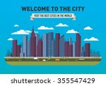 vector city skyline   Shutterstock .eps vector #355547429