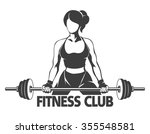 fitness or gym center emblem.... | Shutterstock .eps vector #355548581