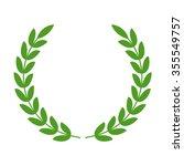 laurel wreath   symbol of... | Shutterstock .eps vector #355549757