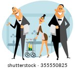 vector illustration of a staff... | Shutterstock .eps vector #355550825