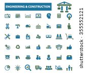 engineering  construction ... | Shutterstock .eps vector #355552121