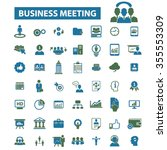 business meeting  community ... | Shutterstock .eps vector #355553309