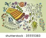patterns with various things | Shutterstock .eps vector #35555383