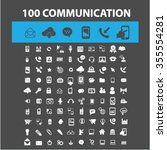 communication  connection ... | Shutterstock .eps vector #355554281
