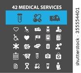 medical services  scientific... | Shutterstock .eps vector #355554401